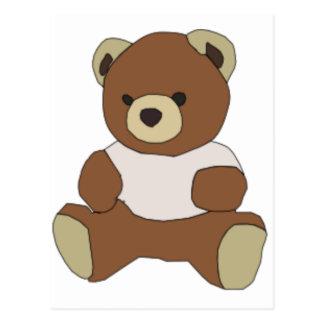 Cute Teddy Bear in Pink T-Shirt Postcard