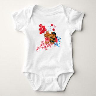 Cute Teddy Bear Onsie Baby Bodysuit