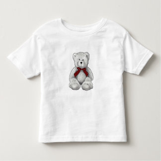 Cute Teddy Bear, Pencil Drawing, Polka Dots Toddler T-Shirt