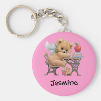Cute Teddy Bear Personalized Name Gift Keychains