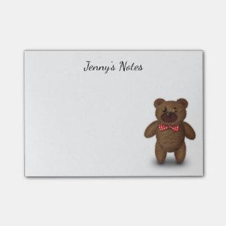 Cute Teddy Bear Post It Notes