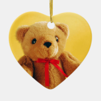 Cute teddy bear print ornament