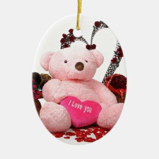 Cute Teddy Bear Products Ceramic Oval Decoration