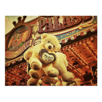 Cute Teddy Bears at the Carnival Postcard