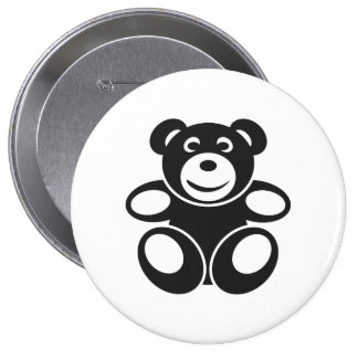 Cute Teddy with a Smile 10 Cm Round Badge