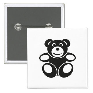 Cute Teddy with a Smile 15 Cm Square Badge