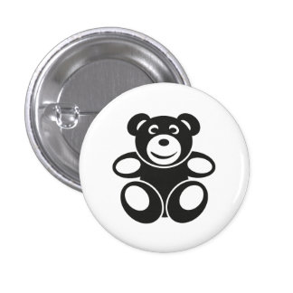 Cute Teddy with a Smile 3 Cm Round Badge