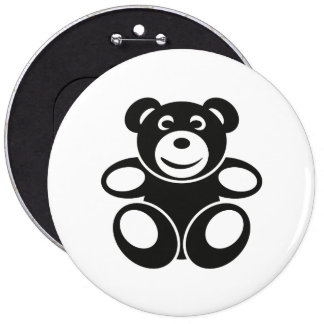 Cute Teddy with a Smile 6 Cm Round Badge