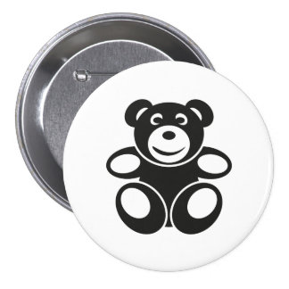 Cute Teddy with a Smile 7.5 Cm Round Badge