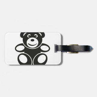 Cute Teddy with a Smile Bag Tag