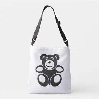 Cute Teddy with a Smile Crossbody Bag