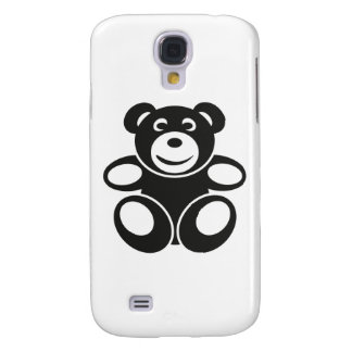 Cute Teddy with a Smile Galaxy S4 Covers