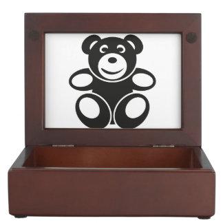 Cute Teddy with a Smile Keepsake Box