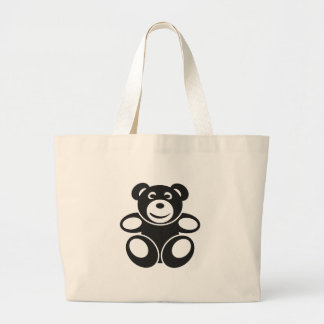 Cute Teddy with a Smile Large Tote Bag