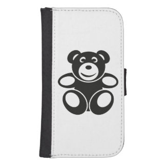 Cute Teddy with a Smile Samsung S4 Wallet Case