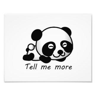 Cute Tell me more Panda Photograph
