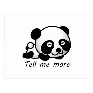 Cute Tell me more Panda Postcard