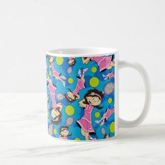 Cute Tennis Girl Mug