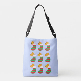 Cute Terrier Dogs in Christmas Stockings Tote
