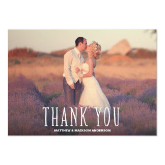 Cute Thank You White Overlay 13 Cm X 18 Cm Invitation Card