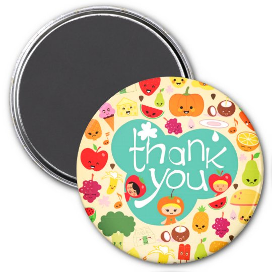 Cute Thanks 7.5 Cm Round Magnet