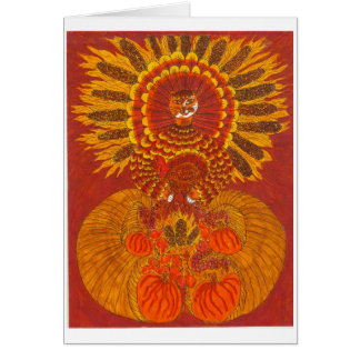 Cute Thanksgiving Cat Note Card