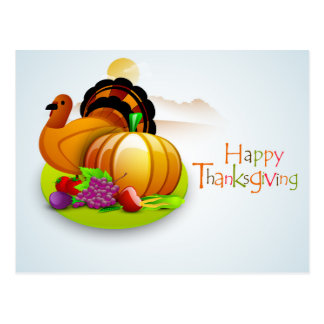 Cute Thanksgiving Postcard