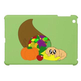 Cute Thanksgiving Puppy with Cornucopia iPad Mini Cover