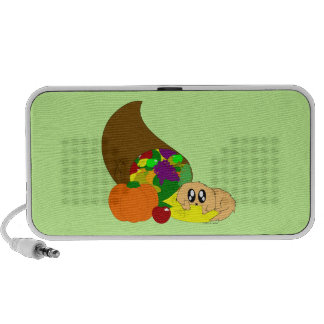 Cute Thanksgiving Puppy with Cornucopia Mp3 Speaker
