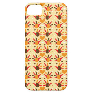 Cute Thanksgiving turkey hand prints pattern iPhone 5 Cover