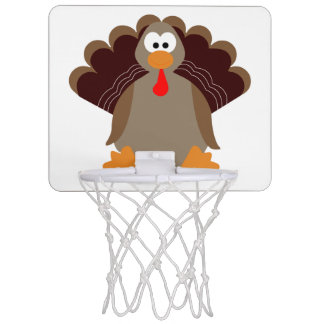 Cute Thanksgiving Turkey Mini Basketball Hoop