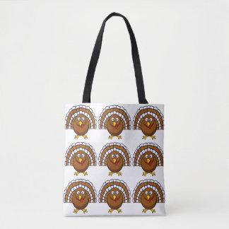 Cute Thanksgiving Turkey Tote Bag