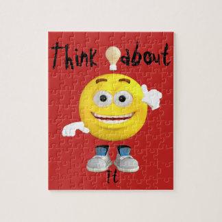 Cute Thinking Emoji Jigsaw Puzzle