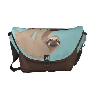 Cute Three-Toed Sloth Messenger bag