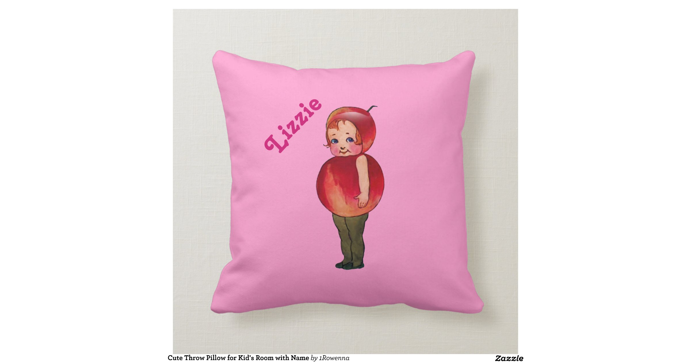 Cute Pillows For Your Room : Cute Throw Pillow for Kid s Room with Name Cushion Zazzle