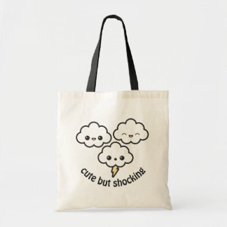 Cute Thunder Clouds Tote Bag
