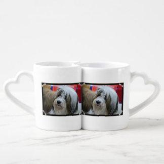 Cute Tibetan Terrier Dog Couple Mugs