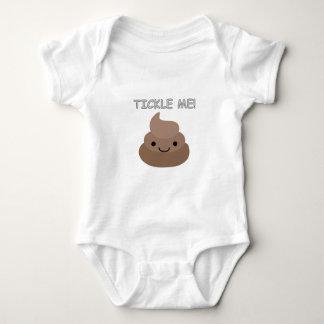 Cute Tickle Me Poop Emoji Baby Bodysuit