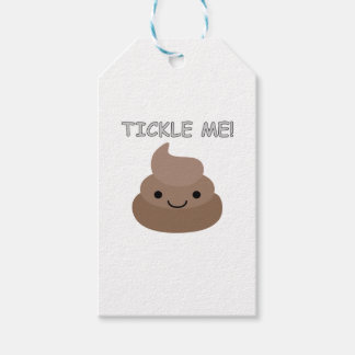 Cute Tickle Me Poop Emoji Gift Tags