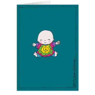 "Cute Tie Dye Peace Baby ""Hippie Birthday"" Card"