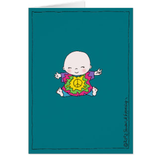 "Cute Tie Dye Peace Baby ""Hippie Birthday"" Greeting Card"