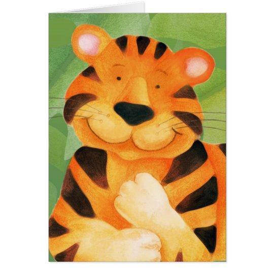 Cute Tiger art kids Birthday Card