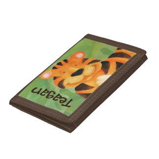 Cute tiger art named kids wallet