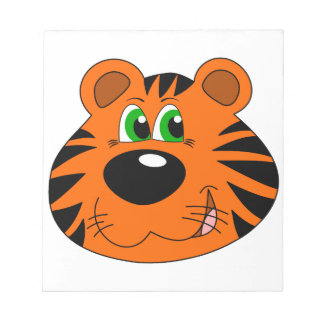 Cute Tiger Cartoon head Notepad