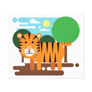Cute Tiger Cub Canvas Print