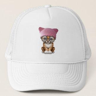 Cute Tiger Cub Wearing Pussy Hat