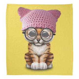 Cute Tiger Cub Wearing Pussy Hat Bandana