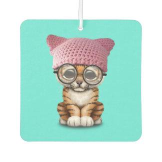 Cute Tiger Cub Wearing Pussy Hat Car Air Freshener