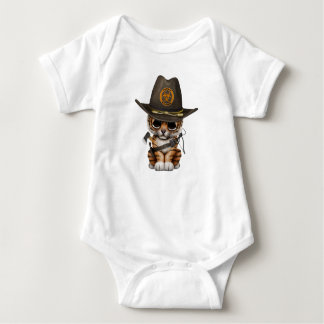 Cute Tiger Cub Zombie Hunter Baby Bodysuit