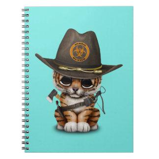 Cute Tiger Cub Zombie Hunter Notebooks